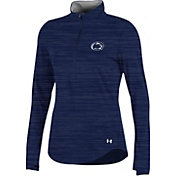 Under Armour Women's Penn State Nittany Lions Blue Charged Cotton Quarter-Zip Shirt