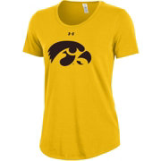 Under Armour Women's Iowa Hawkeyes Gold Charged Cotton Performance T-Shirt