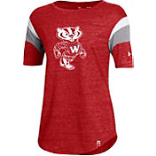 Under Armour Women's Wisconsin Badgers Red Throwback Football T-Shirt