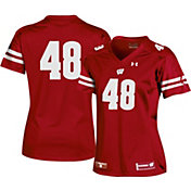 Under Armour Women's Wisconsin Badgers #48 Red Replica Football Jersey