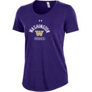 Under Armour Women's Washington Huskies Purple Charged Cotton Performance T-Shirt