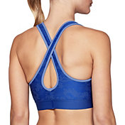 Under Armour Women's Jacquard Armour Mid Crossback Sports Bra