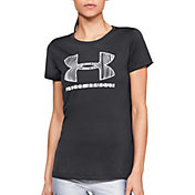Under Armour Women's Tech Sportstyle Big Logo Graphic T-Shirt