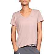 Under Armour Women's Tech Short Sleeve V-Neck Ticker T-Shirt