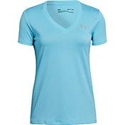 Under Armour Women's Tech Short Sleeve V-Neck Ticker T-Shirt