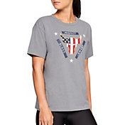 Under Armour Women's Project Rock Brahma Bull Flag Graphic T-Shirt