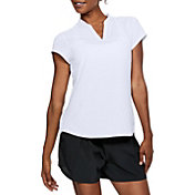 Under Armour Women's Threadborne Printed Short Sleeve Golf Polo
