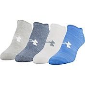 Under Armour Women's Holiday No Show Socks 4 Pack