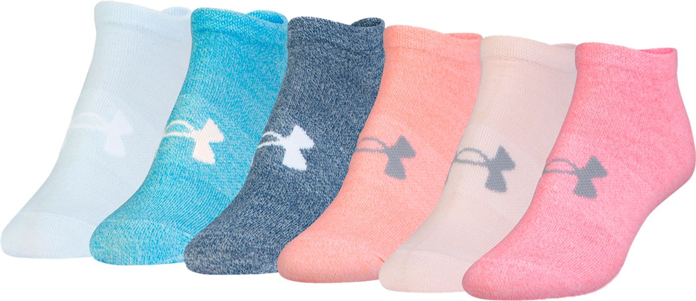 Under Armour Women's No Show Socks 6 Pack