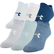 Under Armour Women's Essential 2.0 No Show Socks 6 Pack