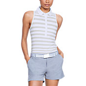 Under Armour Women's Zinger Novelty Wide Stripe Sleeveless Golf Polo