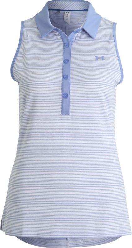 Under Armour Women's Zinger Novelty Sleeveless Golf Polo
