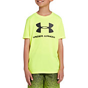 Under Armour Boys' Big Logo Short Sleeve Rash Guard