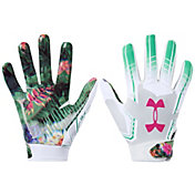 Under Armour Youth F6 Limited Edition Football Receiver Gloves in Floral Le
