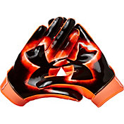 Under Armour Youth F6 Limited Edition Football Receiver Gloves in Orange Glitch