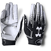 Under Armour Youth F6 Receiver Gloves in Black/White