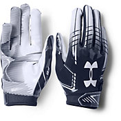 Under Armour Youth F6 Receiver Gloves in Midnight Navy/White