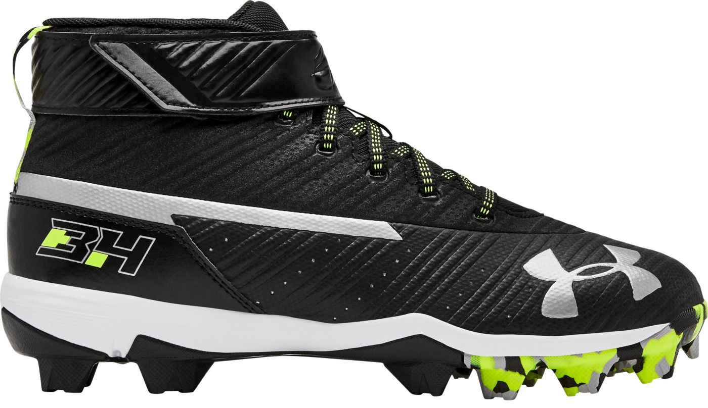 Under Armour Kids' Harper 3 Mid Baseball Cleats