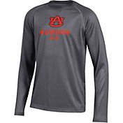 Under Armour Youth Auburn Tigers Grey Tech Performance Long Sleeve T-Shirt