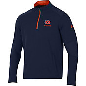 Under Armour Men's Auburn Tigers Blue Threadborne Ridge Quarter-Zip Shirt