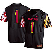 Under Armour Youth Maryland Terrapins #1 Replica Football Black Jersey