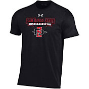 Under Armour Youth San Diego State Aztecs Performance Cotton Black T-Shirt