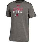 Under Armour Youth Utah Utes Grey Tri-Blend Performance T-Shirt