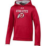 Under Armour Youth Utah Utes Crimson Armourfleece Pullover Performance Hoodie