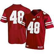 Under Armour Youth Wisconsin Badgers #48 Red Replica Football Jersey