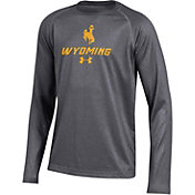 Under Armour Youth Wyoming Cowboys Grey Tech Performance Long Sleeve T-Shirt