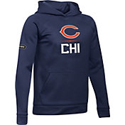 Under Armour NFL Combine Authentic Youth Chicago Bears Lockup Armour Fleece Navy Hoodie