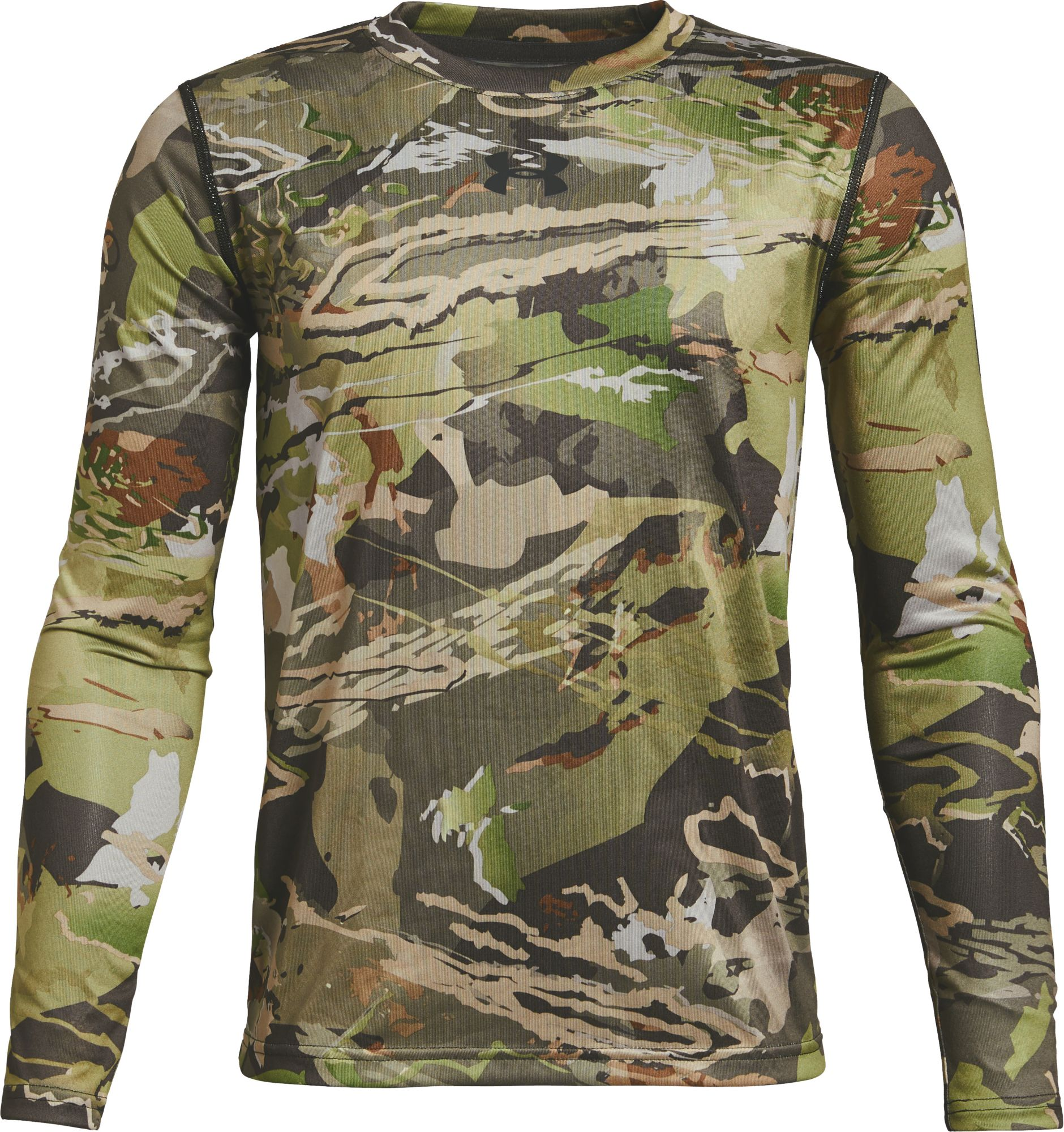 Under Armour Youth Early Season Long Sleeve Technical Shirt, Size: Small, Green thumbnail