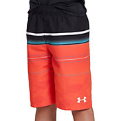 Under Armour Boys' Static Stripe Volley Swim Trunks