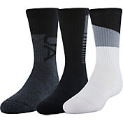 Under Armour Kids' Phenom 3.0 Crew Socks 3 Pack