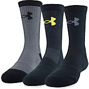 Under Armour Kids' SC30 Phenom Crew Socks - 3 Pack