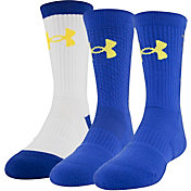 Under Armour Kids' SC30 Phenom Crew Socks 3 Pack