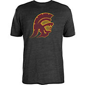 USC Authentic Apparel Men's USC Trojans Worn Tri-Blend Black T-Shirt