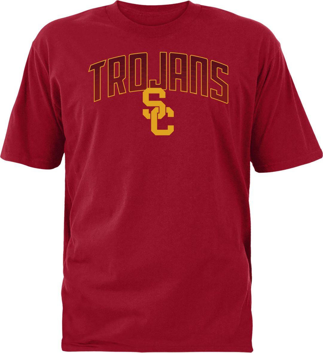 c33b820f USC Authentic Apparel Men's USC Trojans Cardinal Rescender Wave T-Shirt