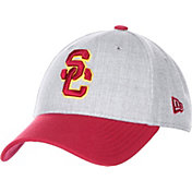 New Era Men's USC Trojans Grey/Cardinal The League Heather Adjustable Hat