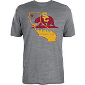 USC Authentic Apparel Men's USC Trojans Grey State of Pride Tri-Blend T-Shirt