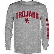 USC Authentic Apparel Men's USC Trojans Grey Reflex Long Sleeve Shirt