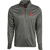 USC Authentic Apparel Men's USC Trojans Grey Arnie Quarter-Zip Top