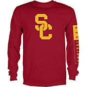 USC Authentic Apparel Men's USC Trojans Cardinal Blockade Long Sleeve Shirt