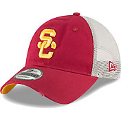 New Era Men's USC Trojans Cardinal 9TWENTY Trucker Worn Adjustable Hat