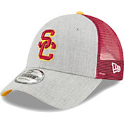 New Era Men's USC Trojans Grey/Cardinal The League Blocked 9FORTY Adjustable Hat