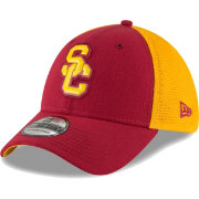 New Era Men's USC Trojans Cardinal/Gold 39THIRTY Stretch Fit Hat