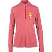 USC Authentic Apparel Women's USC Trojans Cardinal Darcy Quarter-Zip Top