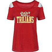 USC Authentic Apparel Women's USC Trojans Cardinal Flapper Scoop Neck T-Shirt
