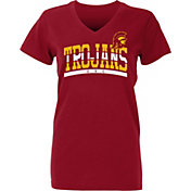 USC Authentic Apparel Women's USC Trojans Cardinal Farrow V-Neck T-Shirt