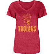 USC Authentic Apparel Women's USC Trojans Cardinal Poult Tri-Blend V-Neck T-Shirt